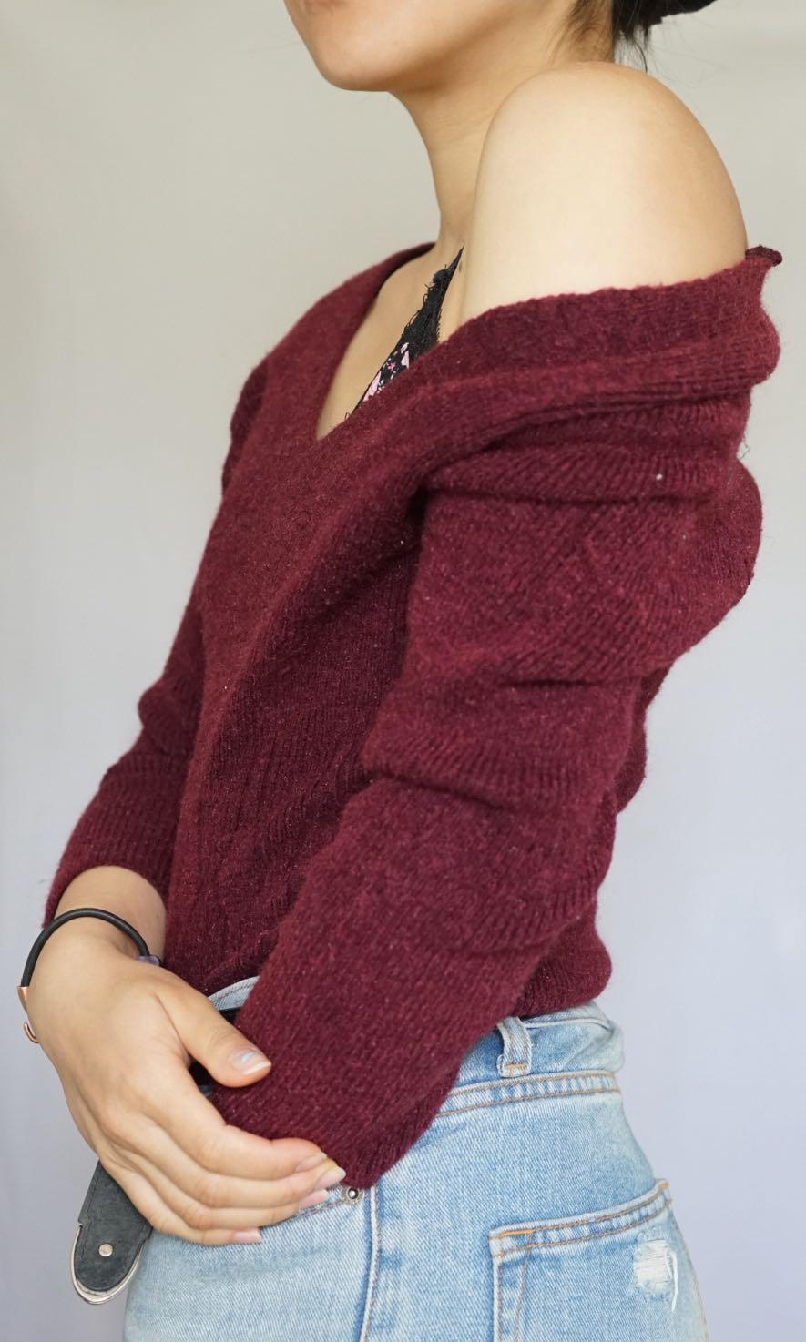 VINTAGE Versatile knit sweater