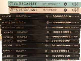 Mint condition Monocle Whole Series 2016 Feb to 2017 Jan with Forecast and Escapist
