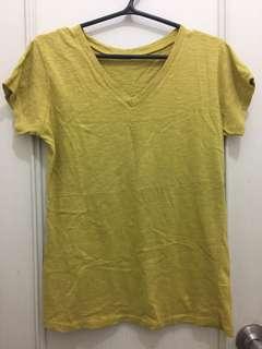Mustard V-neck