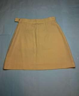 Yellow high-waist skirt