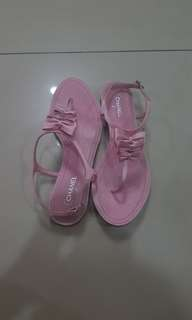Authentic Preloved Chanel Pink Sandals