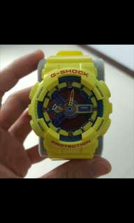 G Shock GA110 Hyper Colours Yellow