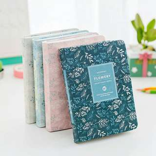 Notebook Year Planner Organiser Vintage Flower