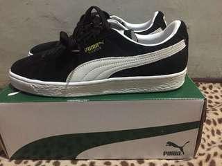 Puma Suede Classic+ Black-Whiten Original