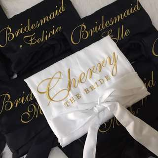 Satin robe / personalised robe / bridal robe