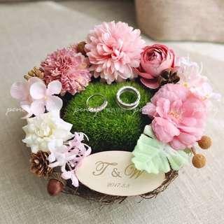 Wedding ring holder - Flowery Spring