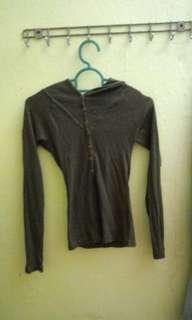 Long sleeve shirt hoodie