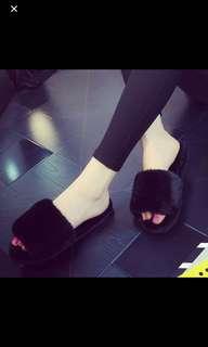 Woman Bedroom Furry Slippers