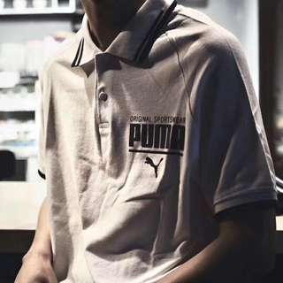 Puma polo tee in blk or white