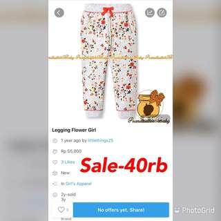 Sale-flower legging