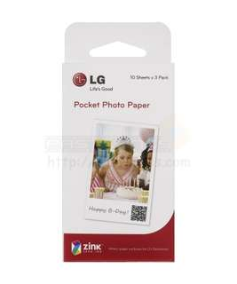 30 Sheets LG Photo Paper For LG Pocket Printer PS2203 Zink Paper