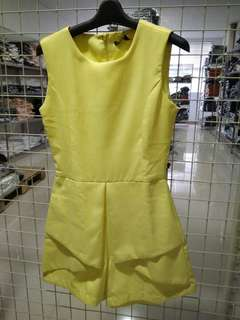 Jumpsuit yellow glitterati