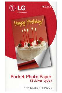 30 Sheets LG Sticker Photo Paper For LG Pocket Printer PS2313 Zink Paper