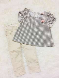 Combo Shirt poney & jeans guess #raya
