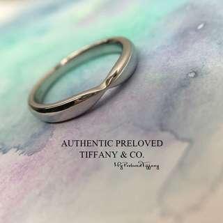 Mint Tiffany & Co. Harmony Platinum Pt950 Classic Wedding Band Ring #5.5