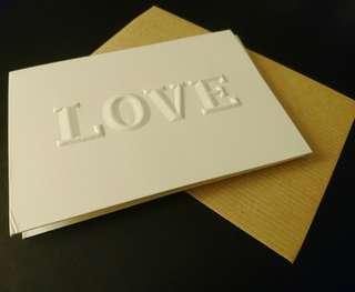 Blessing card~ LOVE賀卡/心意咭(購自台灣)