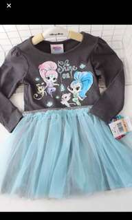 PO Authentic shimmer and shine dress set brand new size 2yrs to 7yrs old
