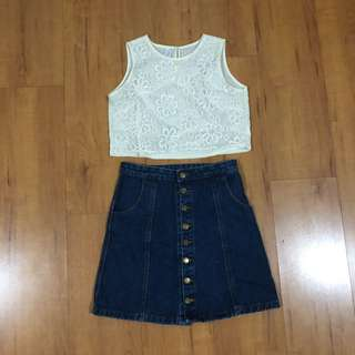 Kashieca Embroidered Crop Top