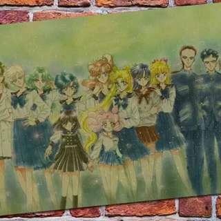 中古 美少女戰士 sailormoon 海報 poster
