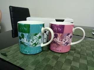 BN Franc Franc Mickey & Minnie Couple Mugs
