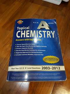 Alvl topical chemistry with notes and solutions