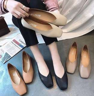SIMPLE LEATHER FLATS