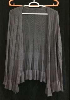 Grey heart knitted blazer