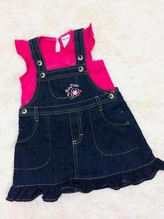Set overall skirt baby kiko #raya