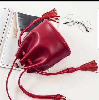 RED Mini Bucket Bag (as advertise)