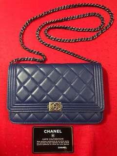 Chanel Le Boy Wallet on Chain