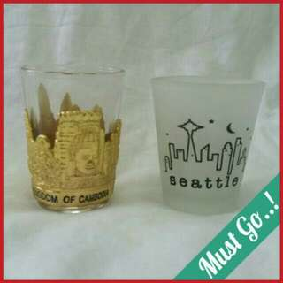 ✈ BN Shot Glass From Cambodia & Seattle