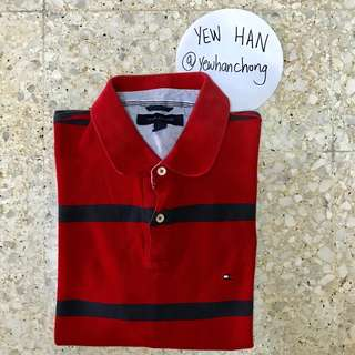 Tommy Hilfiger Small Logo Polo T (Red)