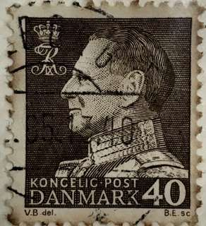 Vintage antique stamps (Denmark) KONCELIC