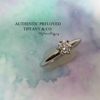 f7545efc6 Mint Tiffany & Co Solitaire Diamond 0.33ct Platinum Ring IF H Excellent  PT950