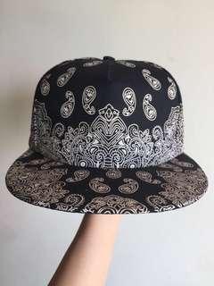 碎花帽黑色 Black Cap Bohemian patterns
