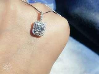 18k白金鑽石吊墜