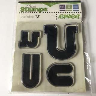 "LETTER ""U"" CLEAR STAMP"