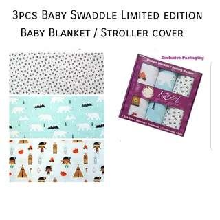 📮Free mailing • 3 pcs  newborn baby swaddle boy girl unisex nursing cover