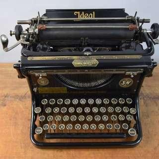 1928年德國製IDEAL D 型 古董打字機