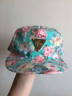 碎花帽藍綠色 Turquoise Cap Flowery patterns