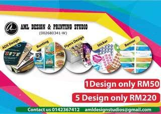 Design flyers,ads,bunting,banner & sticker