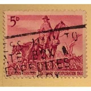 早期澳洲紀念探索北部100週年紀念郵票