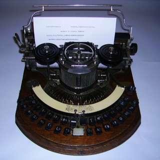 1880年美國製HAMMOND 古董打字機