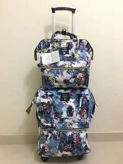 Ready Stock Anello Luggage & Backpack Floral Print
