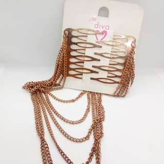Double Comb Chain Hair Clip