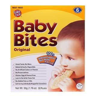 Take One Baby Bites in 4 flavours