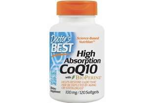 [IN-STOCK] Doctor's Best High Absorption CoQ10 with BioPerine , Gluten Free , Naturally Fermented , Heart Health , Energy Production , 100 mg 120 Softgels