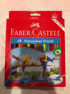Faber Castell watercolour pencils (48pcs)