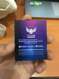 fclub tickets + free drink