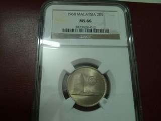 Malaysia Parlimen 1968 20cent. MS66